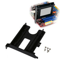 PCI 2.5inch HDD SSD Rear Panel Mount Bracket Hard Drive Adapter Tray Caddy LM