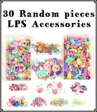 2 Bag Littlest Petshop Lot 30 Accessories Clothes, Food, Skirt Glasses Pet Shop