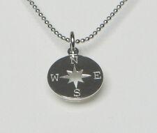 Silberkette Mit Kompass Anhänger Romantischer 925 Silber Kettenanhänger Schmuck