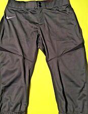 NWT NIKE Womens Turn Two 3/4 FP Charcoal Grey Softball Pant Size Medium 578467