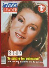 """SHEILA - TRÈS RARE MAGAZINE """"TÉLÉ LEADER"""""""