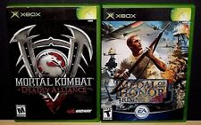 2 XBOX GAMES MORTAL KOMBAT DEADLY ALLIANCE & MEDAL OF HONOR (Microsoft XBOX ) CI