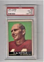 1961 TOPPS YA TITTLE #58 PSA VG-EX 4 (MC) San Francisco 49ers YA Tittle FREESHIP