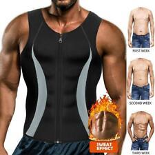 Men's Sauna Sweat Vest Body Shapewear Thermo Waist Trainer Gym Workout Top Shirt