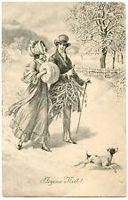 VIENNE. JOYEUX NOËL. MERRY CHRISTMAS. DOG . AMOUR. CHARM. CHAPEAUX. HAT. CHIEN