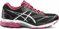Asics Gel Plus 8 Womens UK 4 EU37 Black Silver Sport Pink Running Shoes Trainers