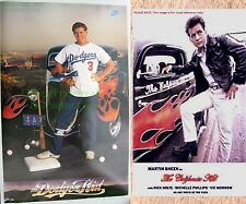Vintage NIKE Poster Steve Sax LA Dodger Kid California 1934 Ford Coupe Hot Rod!
