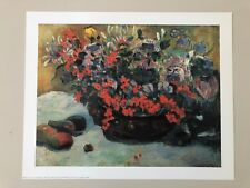 PAUL GAUGUIN, 'BUNCH OF FLOWERS,1897' RARE AUTHENTIC 1990's ART PRINT