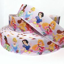 "GROSGRAIN RIBBON 1"" Princess Ariel Snow White P7  (COMBINE SHIPPING) US SELLER"