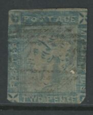 Mauritius, Used, #14B, Small Thin, Cut Very Close, Very Scarce