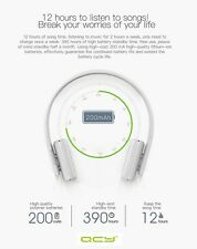 QCY 50 Rechargeable Wireless Bluetooth Headphones, 2 Year Warranty, UK Seller