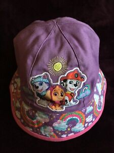 NEW Paw Patrol One Size Purple and Pink Girls Toddlers Bucket Cap Sun Hat