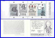 SWEDEN 1984 STOCKHOLMIA/LETTERS booklet SC#1505a MNH PAINTINGS costumes