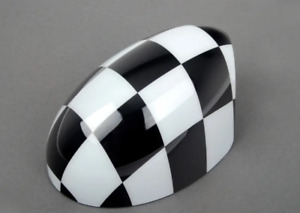 NEW OEM MINI COOPER R50 FRONT RIGHT DOOR MIRROR COVER CHECKERED 51140305203
