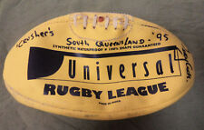 #YY7.  1995 SOUTH QUEENSLAND CRUSHERS RUGBY LEAGUE FOOTBALL WITH SIGNATURES