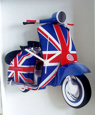 Scooter Wall Clock, Union Jack Scooter Clock, 60s Mod LI TV SX GP Scooter Clock
