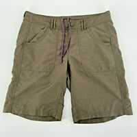 The North Face Nylon Blend Green Brown Shorts Womens 4