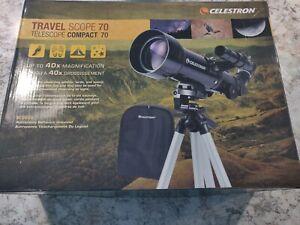 Celestron Travel Scope 70 5.71 Refractor Telescope Tripod Camping Moon Stars
