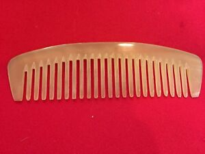 """6.02"""" THICK & STURDY WIDE TOOTHED OX HORN COMB - FOR ALL HAIR TYPES!"""