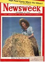 1948 Newsweek September 27 - Israel; Chiang's Tigers; Nymph Buchenwald widow