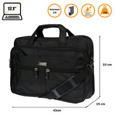 Messenger Bag Umhängetasche Aktentasche Herren Laptoptasche Tasche Schwarz Büro