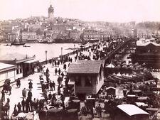 Photo Berggren Turquie Constantinople Pont de Galata Vers 1875