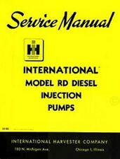 International TD-9 92 B TD-6 62 TD-15-B B IH 9B RD Injection Pump Service Manual