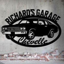 Chevelle Garage - 1970 Chevelle SS - Personalized Metal Sign - Metal Wall Art