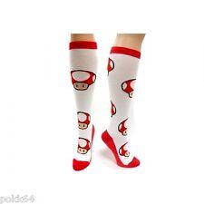 Nintendo socks high Toad Mushroom pair of sock Red or Green