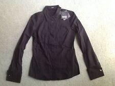 BNWT - ESPRIT COLLECTION  ladies black l/s shirt (size 6) RRP $129.95 - 65% off