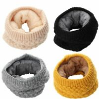 Winter Warm Brushed Knit Neck Warmer Circle Go Out Wrap Cowl Loop Snood Shaw