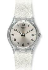 New Swiss Swatch Originals SILVERBLUSH Silicone Date Women Watch 34mm GM416C $70