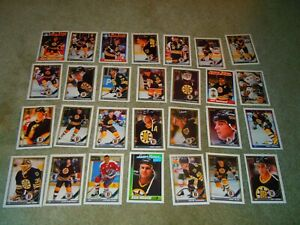 1991-92 O-PEE-CHEE BOSTON BRUINS TEAM SET(28)  NM