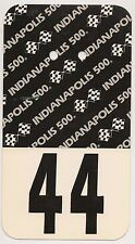1989 Indianapolis 500 Back Up Card #44 for Pit Badge Credential IndyCar Indy500