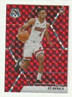 2019-20 Panini Mosaic Prizm RED Rookie RC KZ Okpala Miami Heat SP #210