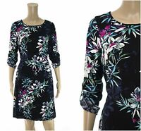ex White Stuff Tropical Floral Print Tea Belted Casual Dress