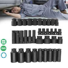 "35Pcs 1/2"" Drive Deep Impact Socket Set Metric Garage Workshop Air Tools 8~32mm"