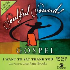 Lisa Page Brooks - I Want To Say Thank You - Accompaniment/Performance Track – N