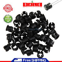 50pcs Practical 5mm ABS Plastic Black LED Clip Holder Display Panel Bezel Mounts