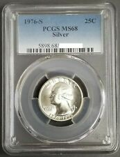 1976-S   BU. GEM Washington Silver Quarter, PCGS MS-68