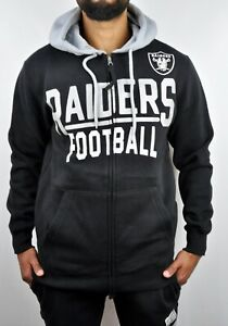 NWT NFL Oakland Raiders Hoodie & Sweatpant Tracksuit Set For Men Black