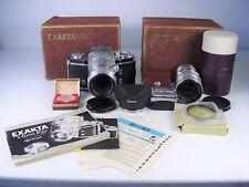 Exakta Varex IIa Spiegelreflexkamera mit Zubehör Carl Zeiss Jena Objektive