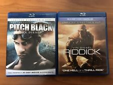 Pitch Black & Riddick Blu-ray Lot Collection