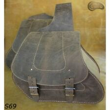 HARLEY DAVIDSON SPORTSTER BROWN LEATHER SWINGARM SADDLE BAGS SIDE PANNIERS