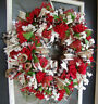 XL Red Rose Floral Valentine's Day Eye Candy Deco Mesh Wreath Decoration Decor