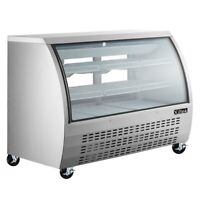 "New Deli Case 65"" SHOW CURVED GLASS REFRIGERATOR DISPLAY CASE Bakery Pastry MEAT"