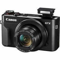 Canon G7X Mark II G7 X II PowerShot 20.1MP Digital Camera (Black)