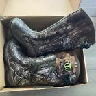TIDEWE Rubber Hunting Boots Waterproof Insulated Realtree/Mossy Oak Camo US5 NIB