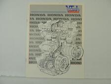 Vintage 1981 Honda Votech Dealer Price List 1980 CR80RA 1978 Z50A L6163