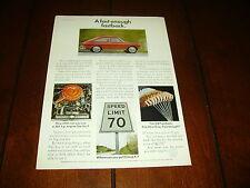1968 VOLKSWAGEN VW FASTBACK ***ORIGINAL AD***